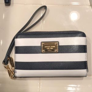 Michael Kors Navy and White Wallet